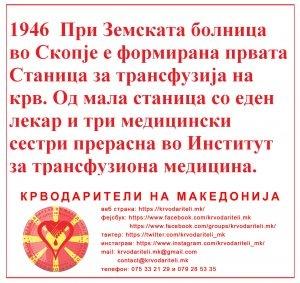Крводарување во Македонија низ годините наназад